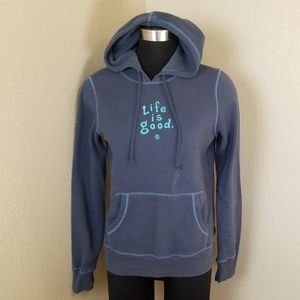 Life Is Good Blue Hoodie Small